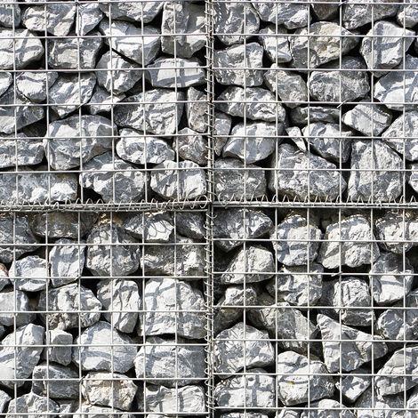 MonsterShop - Cestas de Acero Inoxidable de Exterior Jaulas para Decoración 100 x 80 x 30cm Pack de 2
