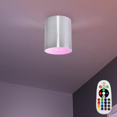montado de lujo atenuadores de iluminación pared de la habitación focos en el conjunto incluyendo RGB lámparas LED