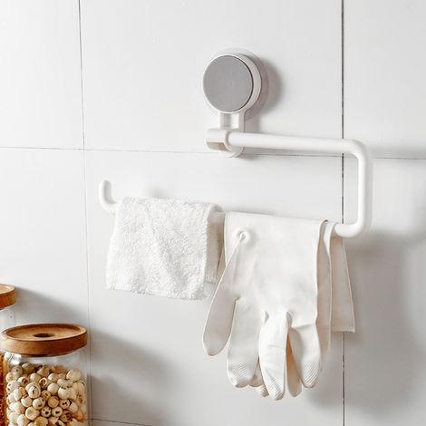 Montado en la pared de papel sostenedor de la toalla adhesivo fuerte multifuncion giratorio rollo Organizador para Cocina Bano