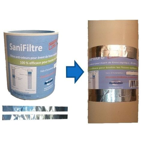 Montage colonne Ø100 : filtre anti-odeurs + kit de montage