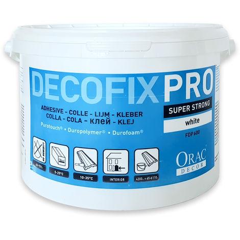 Montagekleber für Zierleisten Leisten und Paneele Orac Decor FDP600 Acryl Kleber DecoFix Pro Eimer 4,2 l / 6,4 kg