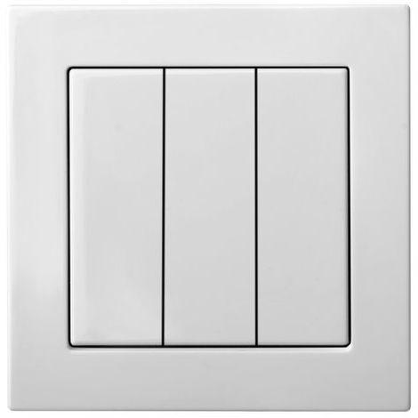 montaje empotrado interruptor unidireccional de 3 v�as con l�mpara LED, sin m
