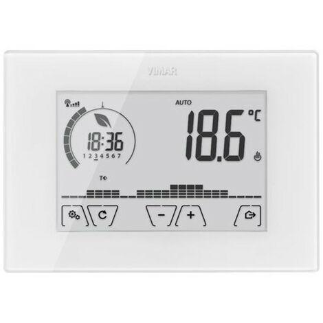 Montaje en la pared termostato Vimar WiFi de la pantalla Táctil Blanco 02907