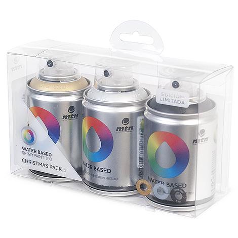 Montana Colors - Pack Spray Base Agua 3 Colors
