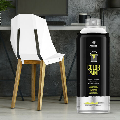Montana Colors - Spray Ral Acrílico R-9010 Blanco 400ml - RAL-9010 Blanco