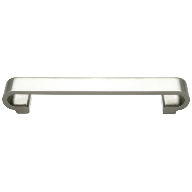 Image of Monte Carlo Brushed Nickel Double G Furniture Handle (160mm Centres)