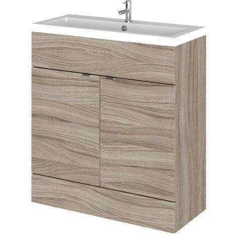 Monte Carlo Driftwood 800mm Vanity Unit & Basin (355mm Deep)