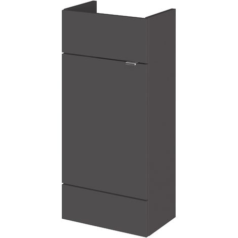 Monte Carlo Grey Gloss 400mm Basin Unit (255mm Deep)