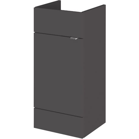 Monte Carlo Grey Gloss 400mm Basin Unit (355mm Deep)