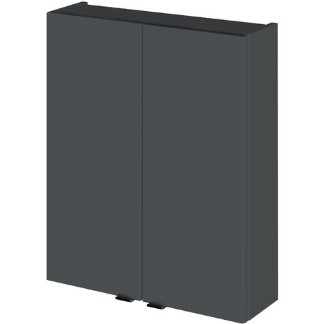 Monte Carlo Grey Gloss 500mm 2 Door Wall Unit (180mm Deep)