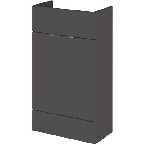 Monte Carlo Grey Gloss 500mm Basin Unit (255mm Deep)