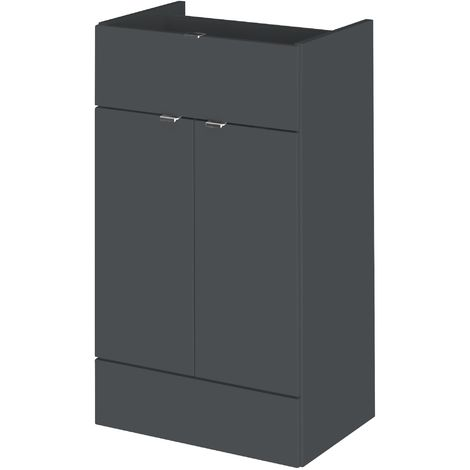 Monte Carlo Grey Gloss 500mm Drawer Line Base Unit (355mm Deep)