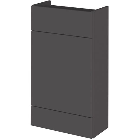 Monte Carlo Grey Gloss 500mm WC Unit (255mm Deep)