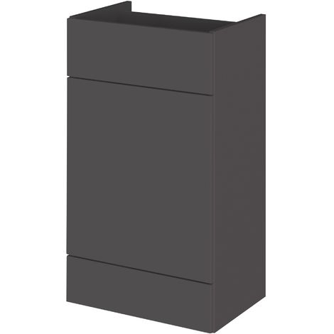 Monte Carlo Grey Gloss 500mm WC Unit (355mm Deep)