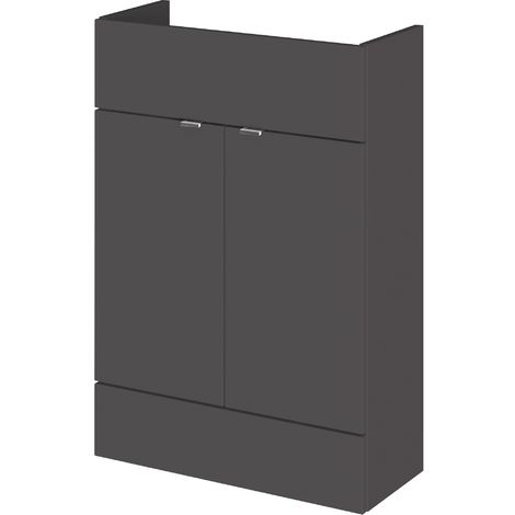 Monte Carlo Grey Gloss 600mm Basin Unit (255mm Deep)