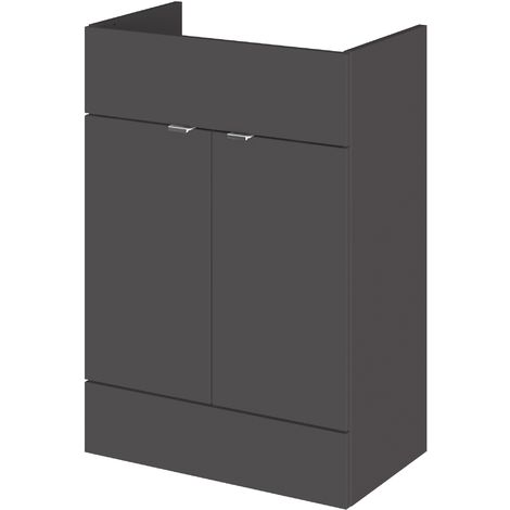 Monte Carlo Grey Gloss 600mm Basin Unit (355mm Deep)