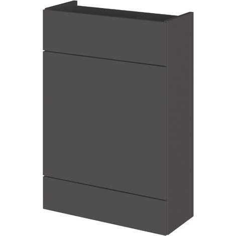 Monte Carlo Grey Gloss 600mm WC Unit (255mm Deep)