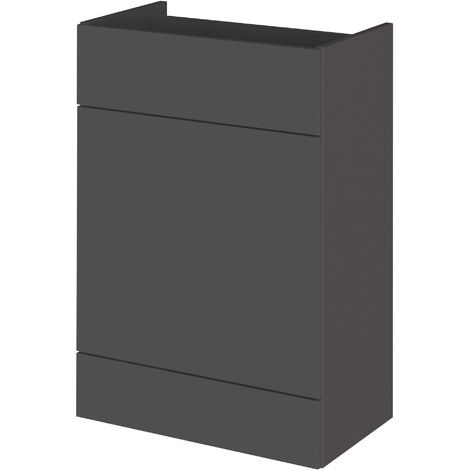 Monte Carlo Grey Gloss 600mm WC Unit (355mm Deep)