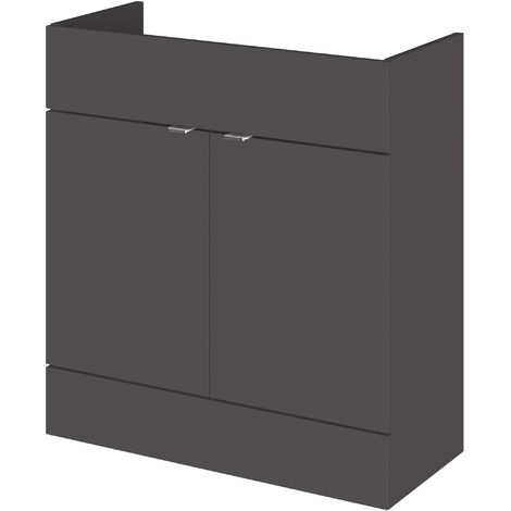 Monte Carlo Grey Gloss 800mm Basin Unit (355mm Deep)