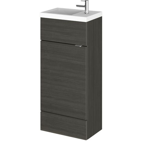 Monte Carlo Hacienda Black 400mm Vanity Unit & Basin (255mm Deep)