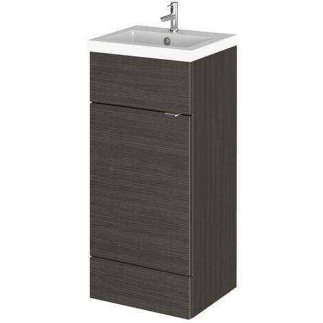 Monte Carlo Hacienda Black 400mm Vanity Unit & Basin (355mm Deep)