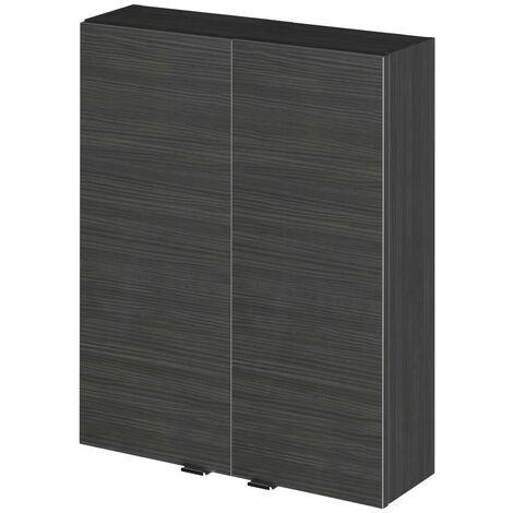 Monte Carlo Hacienda Black 500mm 2 Door Wall Unit (180mm Deep)