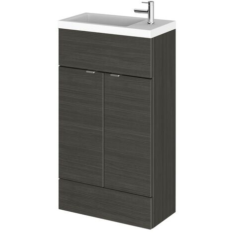 Monte Carlo Hacienda Black 500mm Vanity Unit & Basin (255mm Deep)