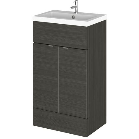 Monte Carlo Hacienda Black 500mm Vanity Unit & Basin (355mm Deep)