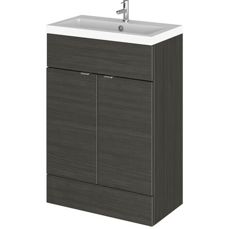 Monte Carlo Hacienda Black 600mm Vanity Unit & Basin (355mm Deep)