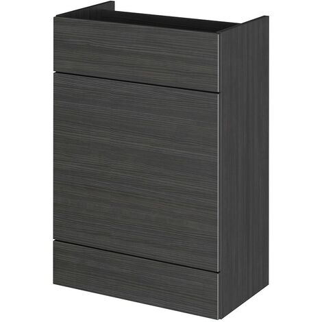 Monte Carlo Hacienda Black 600mm WC Unit (355mm Deep)