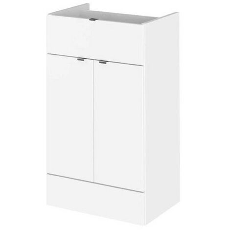 Monte Carlo White Gloss 300mm Drawer Line Base Unit (355mm Deep)