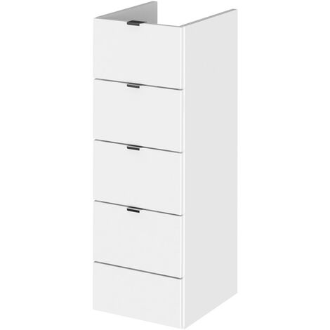 Monte Carlo White Gloss 300mm Full Drawer Unit (355mm Deep)