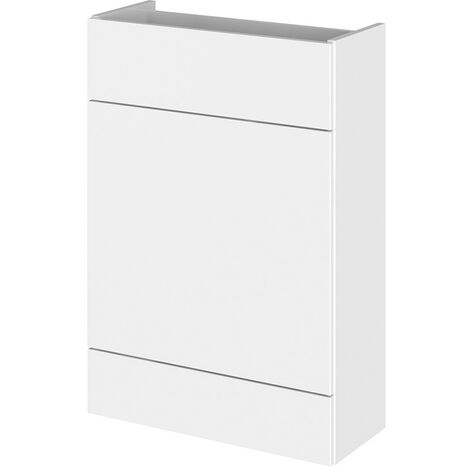Monte Carlo White Gloss 600mm WC Unit (255mm Deep)