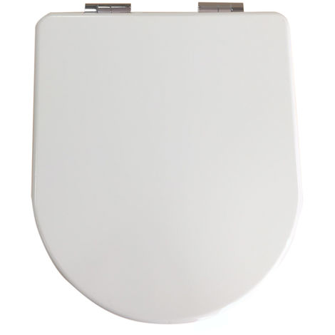 Monte Carlo White Gloss D Shape Soft Close Toilet Seat