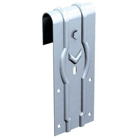 Monture à galet pour portes à déplacement droit en fer plat - type Roc 2 A