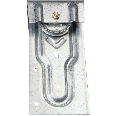 Monture Roc droit sur fer plat pour porte à déplacement Mantion Flot