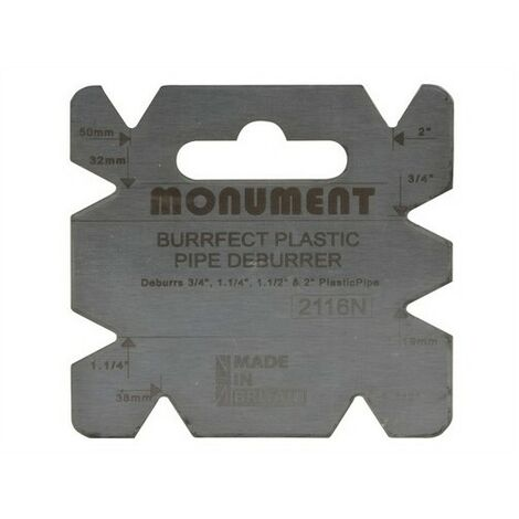 Monument 2116N Burrfect Square De-Burrer