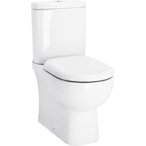 Monza Closed Back Close Coupled Toilet with Soft Close Seat