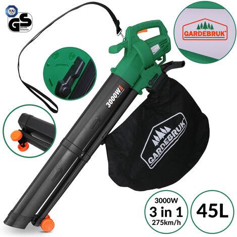 """main image of """"Monzana 3en1 soplador aspirador y trituradora de jardín máx 3000W para hojas papeles ramas"""""""