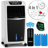 Monzana® 4in1 mobile Klimaanlage Luftkühler Klimagerät Ventilator Ionisator Luftbefeuchter • mit Fernbedienung • Timer • 3 Gebläsestufen • 8 Liter Tank