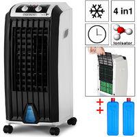 Monzana® 4in1 mobile Klimaanlage mobiles Klimagerät Ionisator Luftkühler Ventilator • Timer • Wasserstandsanzeige • Wasser- und Staubfilter-System • 3 Gebläsestufen • 7 Liter Tank