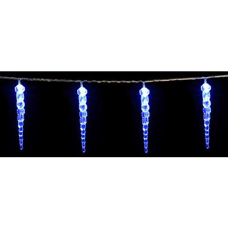 Weihnachtsbeleuchtung Led Aussen Preis.Monzana 80 Led Lichterkette Eiszapfen I Blau I Für Innen Außen I Länge 14m I Stecker Weihnachtsdekoration Weihnachtsbeleuchtung Weihnachten