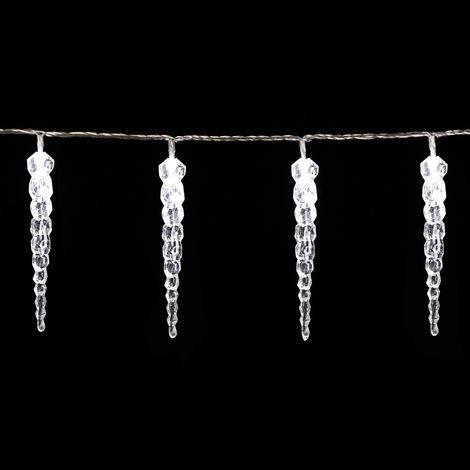Günstige Weihnachtsbeleuchtung Aussen.Monzana 80 Led Lichterkette Eiszapfen I Kaltweiß I Für Innen Außen I Länge 14m I Stecker Weihnachtsdekoration Weihnachtsbeleuchtung