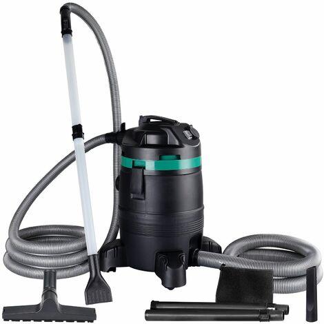 Monzana Aspirador de estanques fondo aspira en seco y húmedo limpiador de lodo limpiafondos de piscina 1400W 35L succión 65L/s
