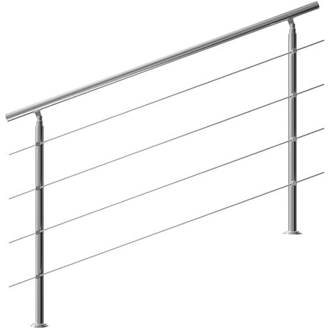 Monzana Banisters Stainless Steel Indoor and Outdoor Handrail Railing Balustrade Balcony
