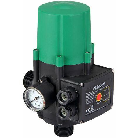 Monzana Bomba de presión de agua con indicador de presión interruptor automático con o sin cable 60 - 160 L/min 22,5x14,5x12cm