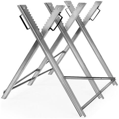 Monzana Caballete para serrar leña soporte dentado evita que rueden los troncos Capacidad de carga máx.: 150kg
