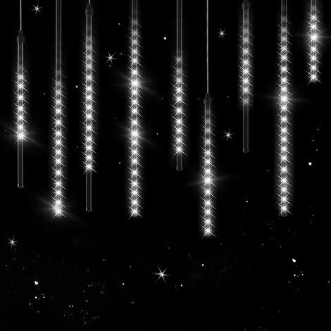 Monzana cadena de luces decorativas efecto lluvia de meteoritos guirnalda 10 tubos de 48 luces led L 6,6 varios colores