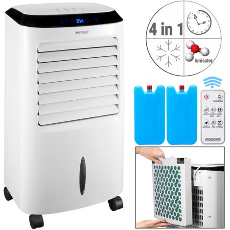 Monzana® Climatiseur mobile blanc 4 en 1 65 W télécommande réservoir d''eau 10L