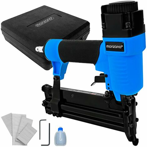 Monzana Compressed Air Stapler Tacker Gun Nailer Kit with Staples